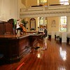 Cellist Natalia Khoma and audio engineer Evan Hill, in rehearsal at First Scots Presbyterian Church in Charleston, SC.  Dr. Khoma presented Bach's Solo Cello Suites as part of the 2010 Piccolo Spoleto Early Music Spotlight series.<br /> <br /> Image by Martin McKenzie ~ All Rights Reserved