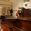 Cellist Natalia Khoma, in rehearsal at First Scots Presbyterian Church in Charleston, SC plays Bach's Solo Cello Suites as part of the 2010 Piccolo Spoleto Early Music Spotlight series.<br /> <br /> Image by Martin McKenzie ~ All Rights Reserved