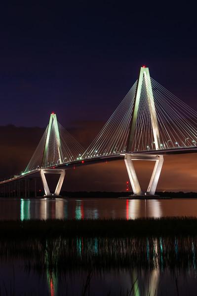 Ravenel Bridge at Night