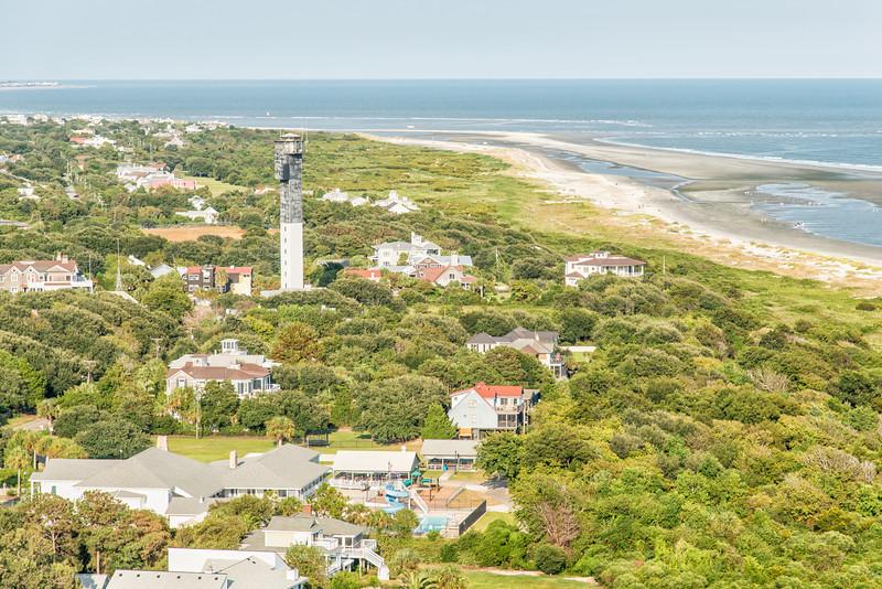 Sullivan's Island Shoreline and Lighthouse