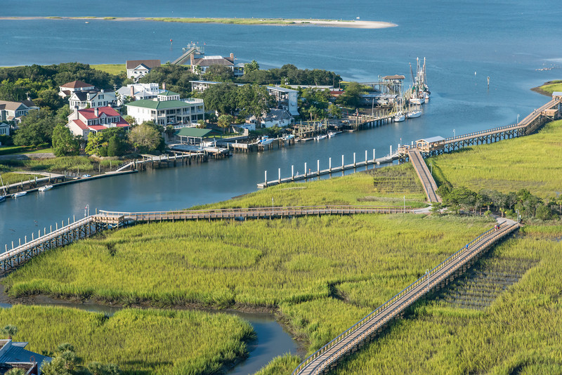 Shem Creek Park and boardwalks