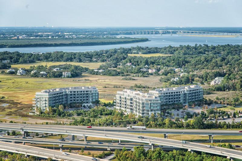 Tidelands Condominiums and Arthur Ravenel Bridge