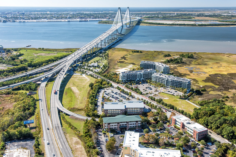 Highway 17, Cooper River, and Arthur Ravenel Bridge