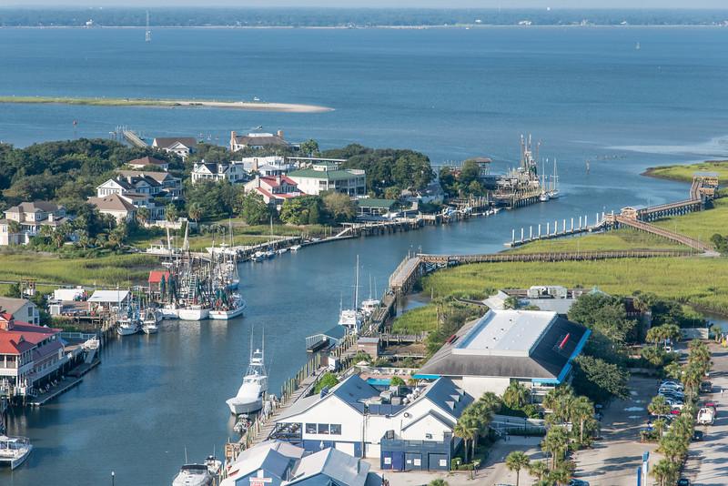 Shem Creek and Charleston harbor