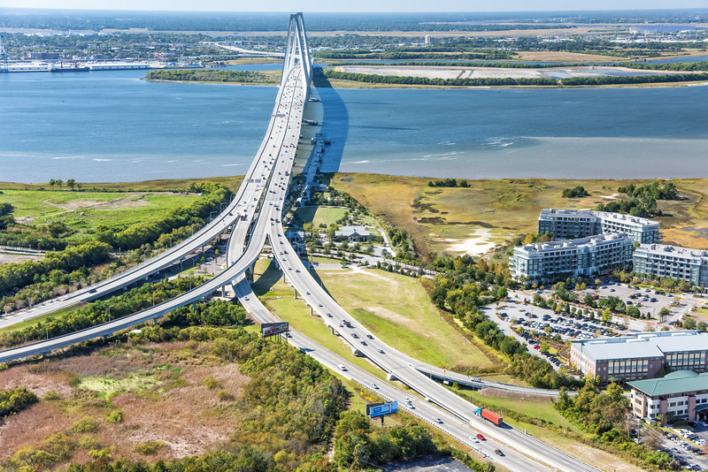 Highway 17 and the Arthur Ravenel Bridge
