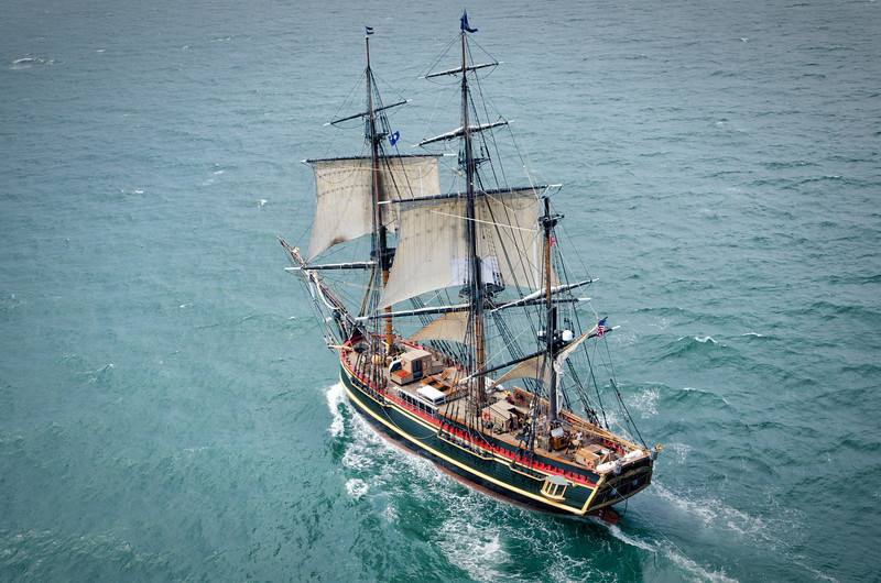 The HMS Bounty off the coast of Charleston, SC - May 2012