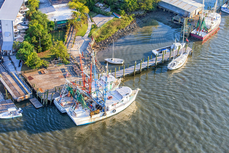 Shrimp Trawlers docked in Shem Creek