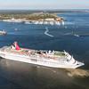 Carnival Cruise Line Ecstasy Leaves the Port of Charleston