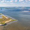 Charleston Harbor and Shutes Folly Island with Castle Pinckney Fort