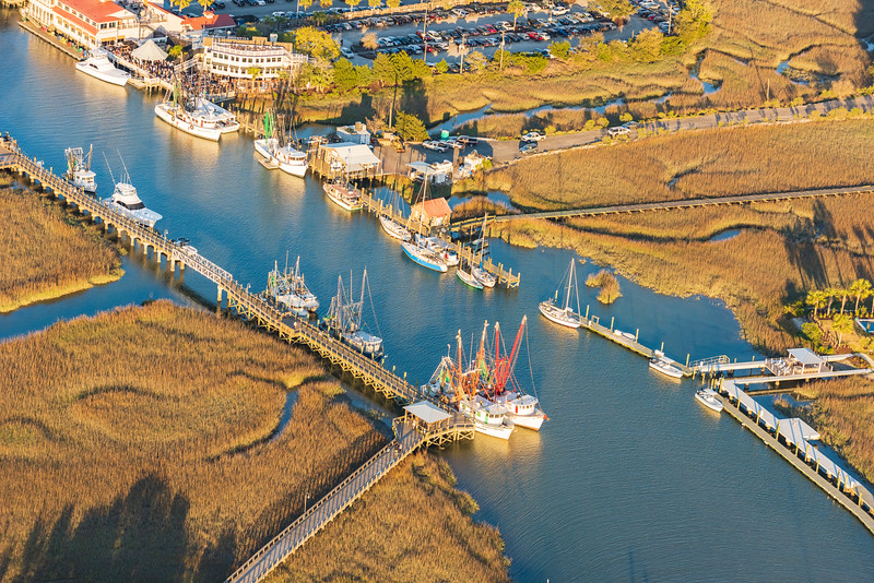 Shrimp Trawlers & other boats tied up on Shem Creek