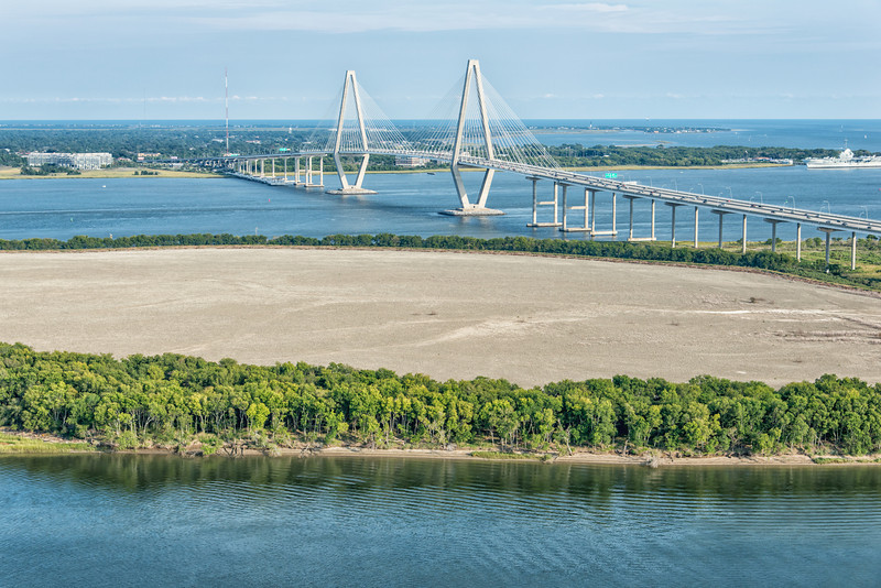 Drum Island and the Arthur Ravenel Bridge