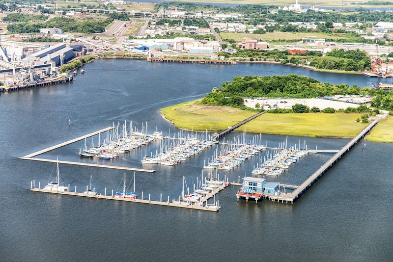 Cooper River marina and Shipyard Creek