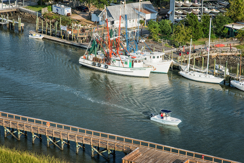 Boating and Shrimp trawlers, Shem Creek