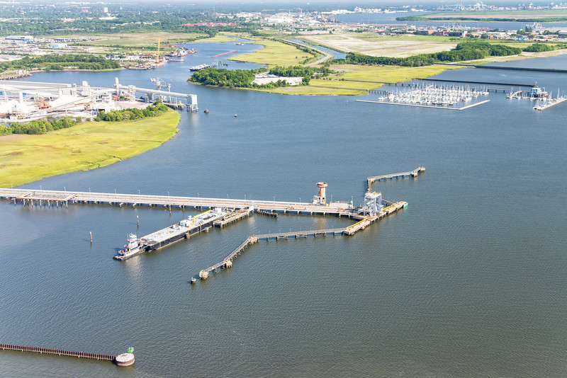 Kinder Morgan facility, Cooper River, Shipyard Creek, Charleston, SC