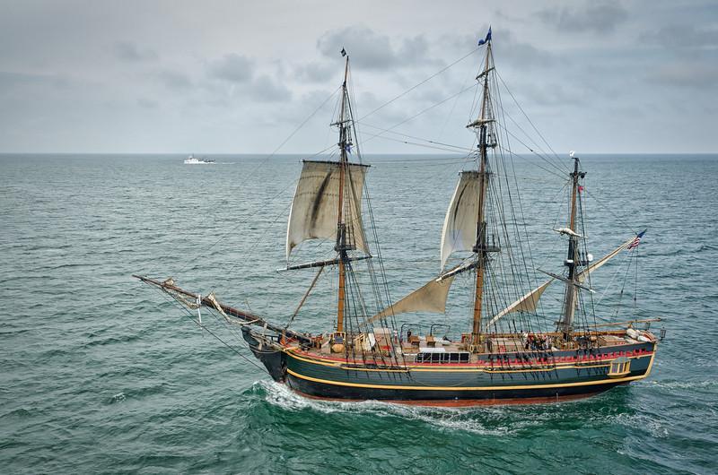 The HMS Bounty off the coast of Charleston, SC - May 2012