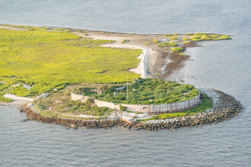 Castle Pinckney historic fort and bird sanctuary