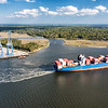 Container ship leaving the Wando Port