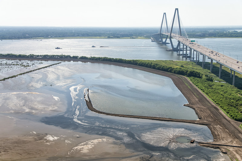 Drum Island, Cooper River and The Arthur Ravenel Bridge