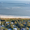 Sullivan's Island Lighthouse & cruise ship