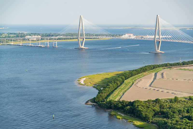 Drum Island, Cooper River, and Arthur Ravenel Bridge