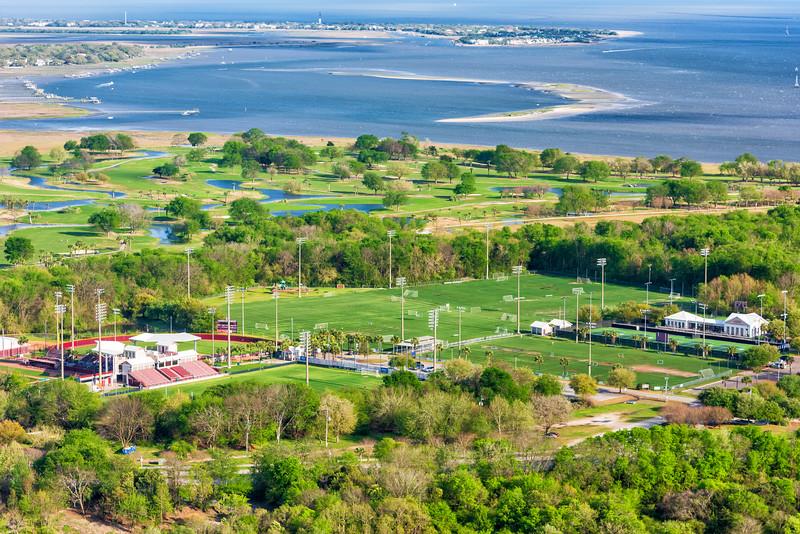 College of Charleston Tennis center, soccer fields and softball stadium