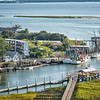 Shem Creek Park, boardwalks and floating dock