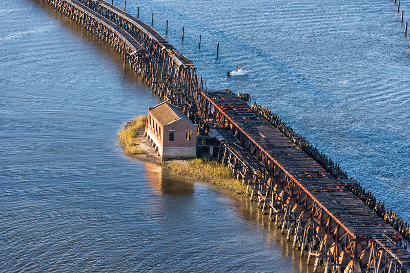 Old Coal Tipple Wooden Pier and brick Ruins