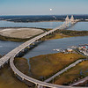 Charleston, Arthur Ravenel Bridge, Mount Pleasant, and Drum Island
