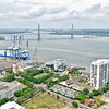 Port of Charleston and the Arthur Ravenel Bridge