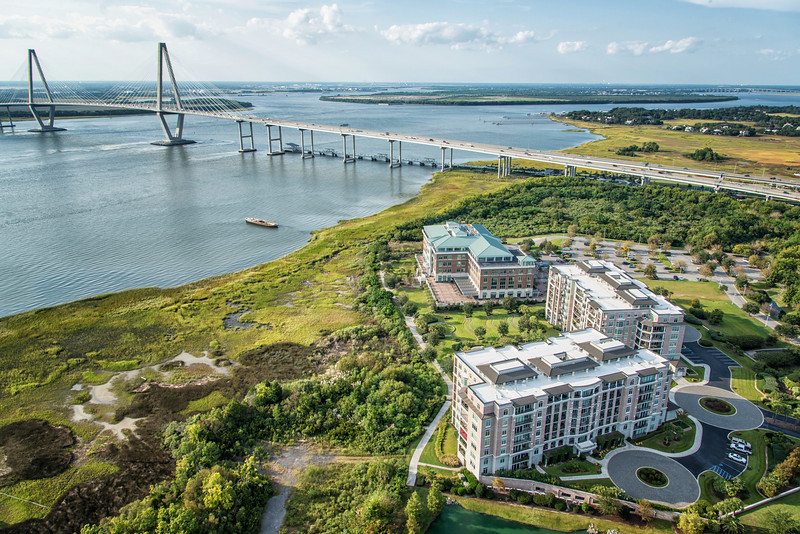 The Renaissance Condominiumss and Arthur Ravenel Bridge
