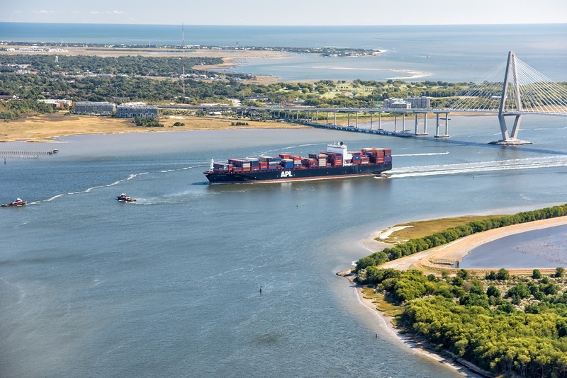 APL Container Vessel in the Wando River
