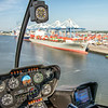 View of Charleston Port and R44 Instrumentation
