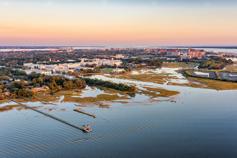 The Citadel campus on the Ashley River