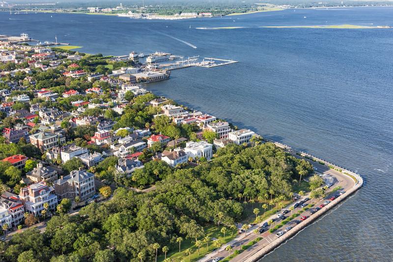 The Battery, White Point Gardens & the Carolina Yacht Club