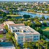 Colonial Lake and Charleston skyline