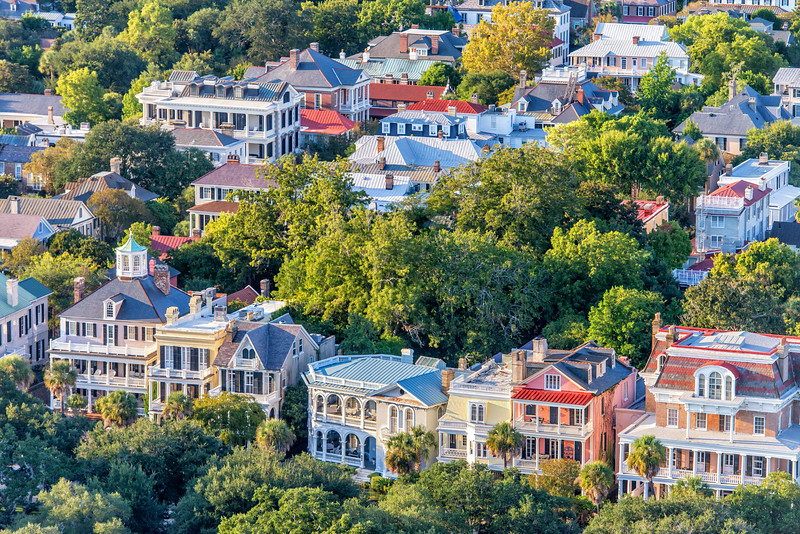 Historic Mansions on South Battery, Charleston, SC