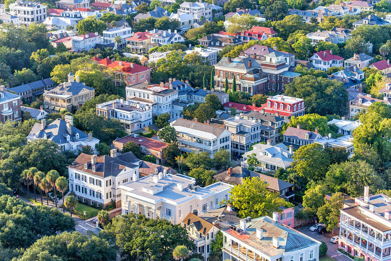 Charleston Rooftops, South of Broad