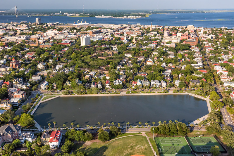 Colonial Lake and Downtown Charleston