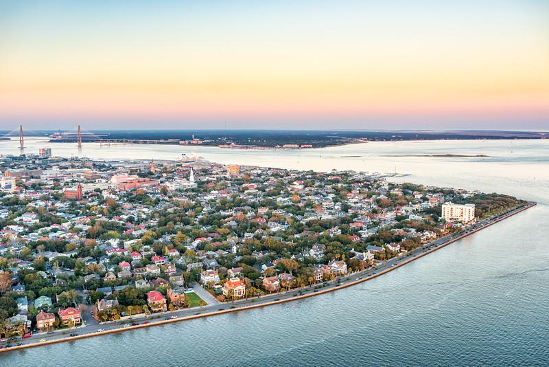 Charleston Peninsula at Twilight
