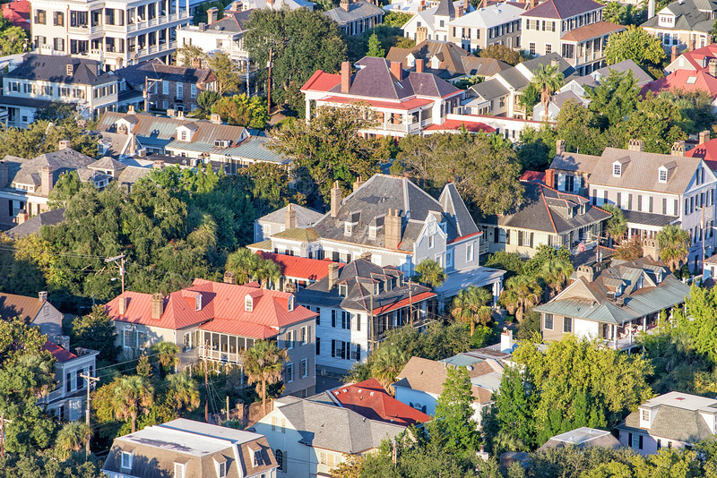 Residential streets, South of Broad, Charleston, SC