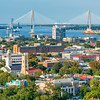 Downtown Charleston with Arthur Ravenel Bridge and Cooper River