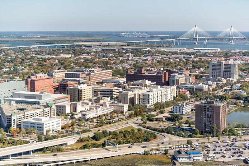 View of greater Charleston Peninsula