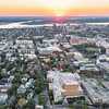 Sunset over Calhoun and George Streets, Charleston