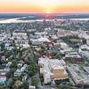 Sunset over Calhoun and George Streets, Charleston