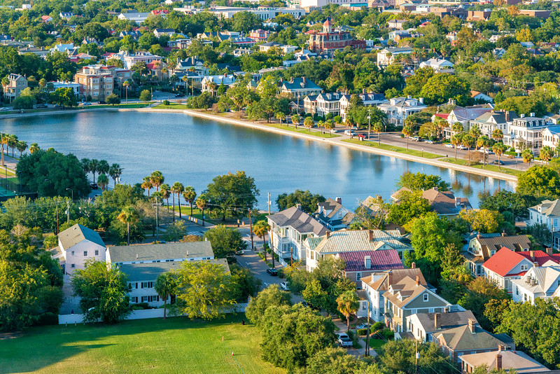 Charleston's Colonial Lake between Beaufain, Broad Streets and Rutledge and Ashley Avenues