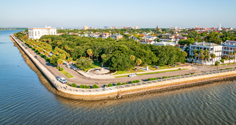 The Charleston Battery and White Point Gardens