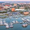 Historic Rice Building and the Charleston City Marina