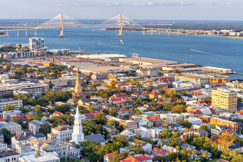 Steeples of historic downtown Charleston