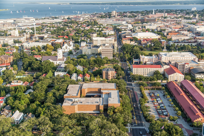 Meeting Street, Charleston Museum and downtown Charleston