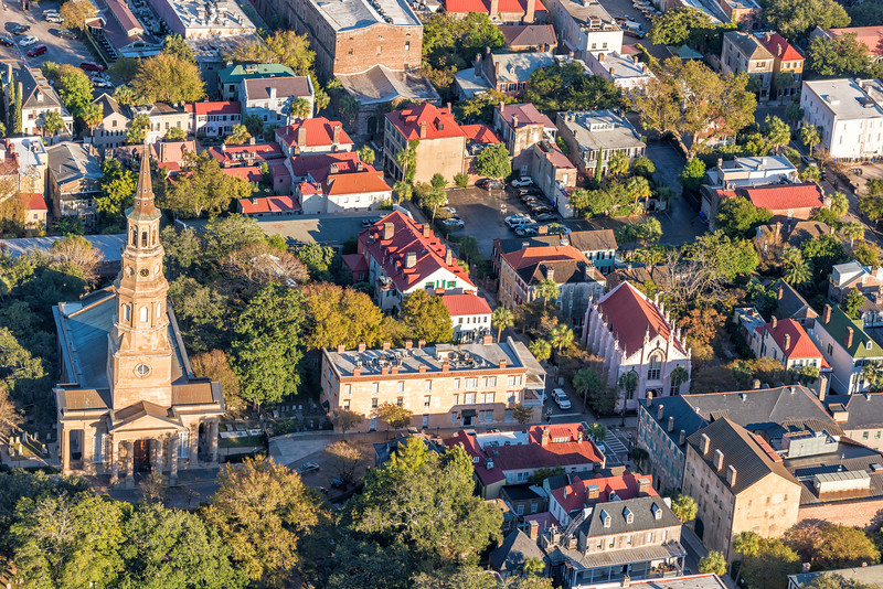 St. Philips Church and downtown Charleston